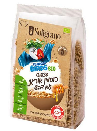 תמונה של סוליגרנו פצפוצי כוסמין אורגני עם דבש 210 ג'ר