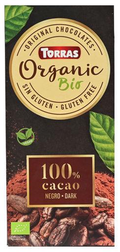 תמונה של טוראס שוקולד אורגני 100% רואו טבעוני 100 ג'ר