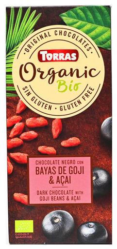 תמונה של טוראס שוקולד אורגני 52% גוזי ברי טבעוני 100 ג'ר