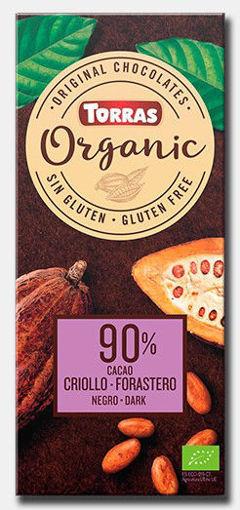 תמונה של טוראס שוקולד שוקולד אורגני 90% רואו טבעוני 100 ג'ר