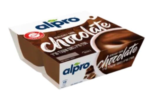 תמונה של אלפרו מעדן סויה בטעם שוקולד מריר 4*125 גרם