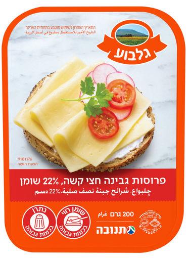 Picture of גלבוע פרוסות גבינה חצי קשה צהובה 22% 200 ג'ר