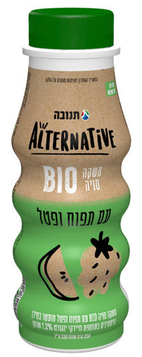 תמונה של אלטרנטיב תנובה משקה סויה עם תפוח ופטל 236 מ'ל