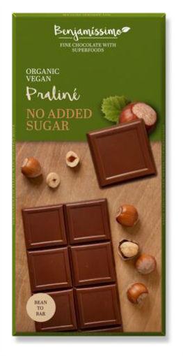 Picture of בנג'מסימו שוקולד אורגני טבעוני פרלין א. לוז 70 ג'ר