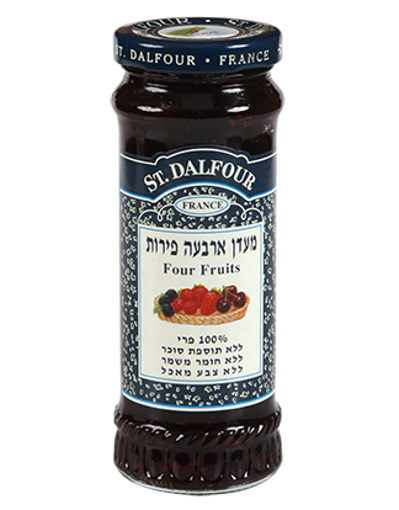 Picture of סנדלפור מעדן ארבע פירות ללא תוספת סוכר 284 ג'ר