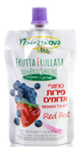 Picture of נטורה נובה סמוזי פירות אדומים אורגניים  100 גרם